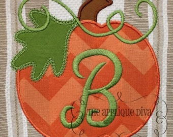 Fall Thanksgiving Great Pumpkin Digital Embroidery Design Machine Applique