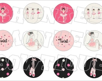Made to Match Gymboree M2MG Glamour Ballerina bottlecap image sheet