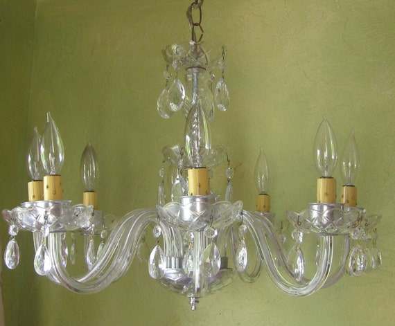 Chandelier, Venetian Glass and Crystal