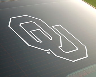 OU Logo Outlined - Vinyl Decal - University of Oklahoma