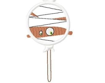 Halloween Lollipop - Mummy - Applique - Machine Embroidery Design - 5 Sizes