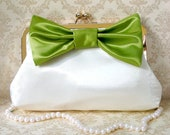 Romantic Clutch Purse with Big Bow- Custom