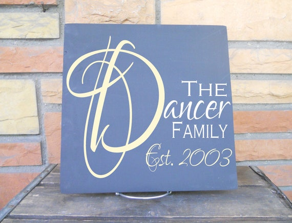 Personalized Family Tile In Gorgeous Script Font Includes Established Date... In Your Choice Of Colors, Makes a GREAT gift