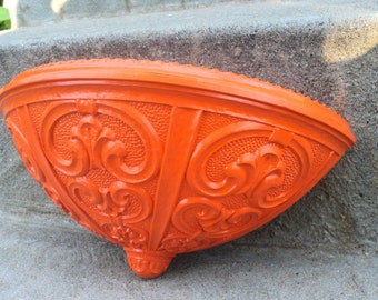 Juicy Orange Ornate Planter Bright Home Decor Outdoor Patio