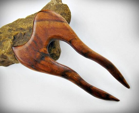 Little Mini Caribbean Rosewood Hair Fork