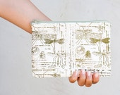 Handmade   Clutches , Cute Pouch Dragonfly, Natural History,  Pencil Cases, perfect for School 5 1/2 x 8 ""