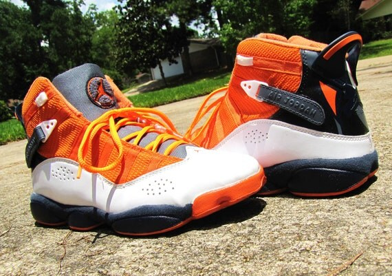"Hand Painted  Air Jordan 6 Rings ""Just Air"" Custom Sneakers"
