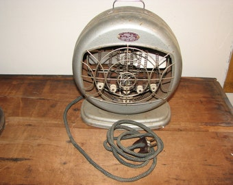 Early Atomic 1940's Working Room Heater From Bersted Manu. Co