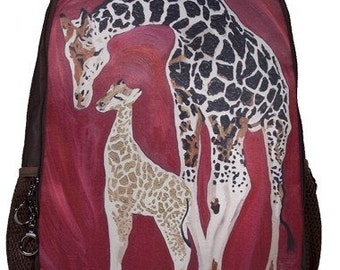 Giraffe Backpack by Salvador Kitti - From my orginal painting, Full Circle
