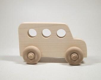 School Bus Wood Car Toy