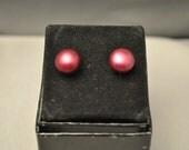 FRESHWATER Pearl Earrings-Reds