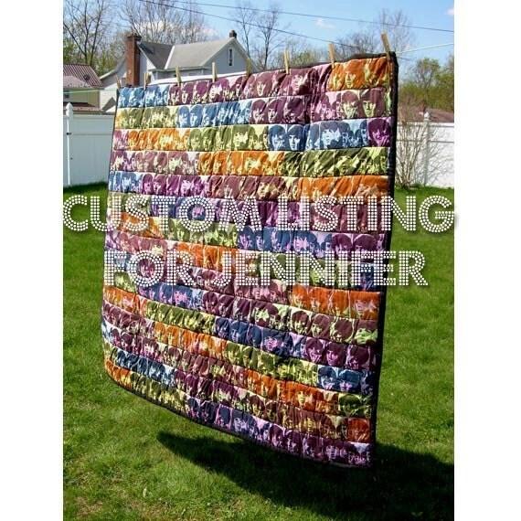 Custom Listing for Jennifer - Beatles Quilt