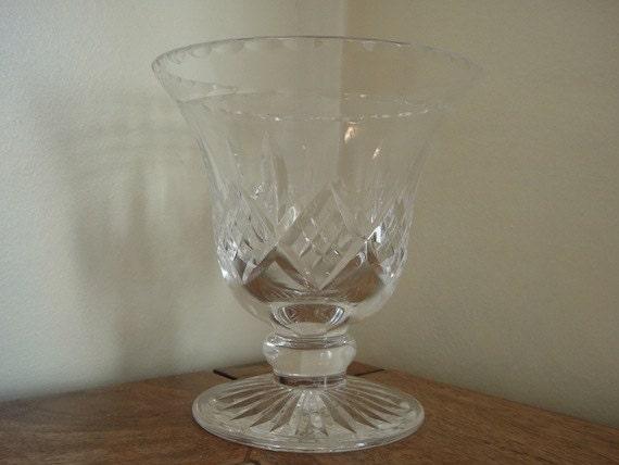 Vintage Crystal Vase, Stuart England.