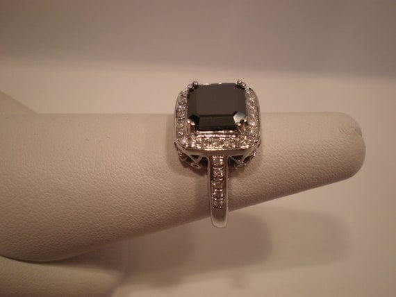 2.83 ct Asscher-Cut Natural Black Diamond by Dianekramerllc