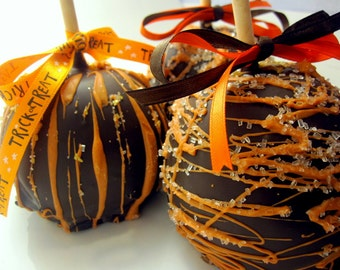 4-Pack Halloween Chocolate Caramel Candy Apples