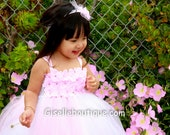 Reserved for islandgirl767:  Ligjt pink tutu dress in size 2t with free headband