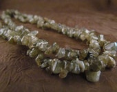 Polished Labradorite beaded Necklace LONG