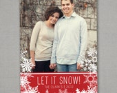Photo Christmas Card - Let it Snow