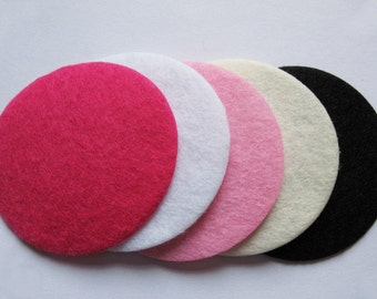 50 Wool Felt Thick 50mm Circle -5 colors(U Pick) AO030-2