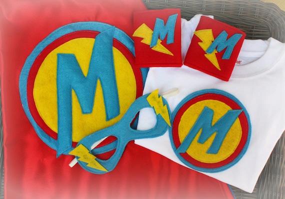 Ultimate Super Hero Set Design Your Own Cape,Mask,Cuffs,T-shirt