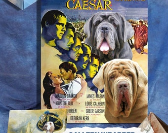 Neapolitan Mastiff Vintage Art Poster Canvas Print  -Julius Caesar  Movie Poster NEW Collection by Nobility Dogs