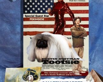 Pekingese Print Fine Art Canvas - Tootsie Movie Poster NEW COLLECTION by Nobility Dogs