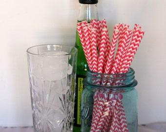 Sale Pink Chevron drinking straws bright pink, Pink chevron straws, drinking straws, pink straws