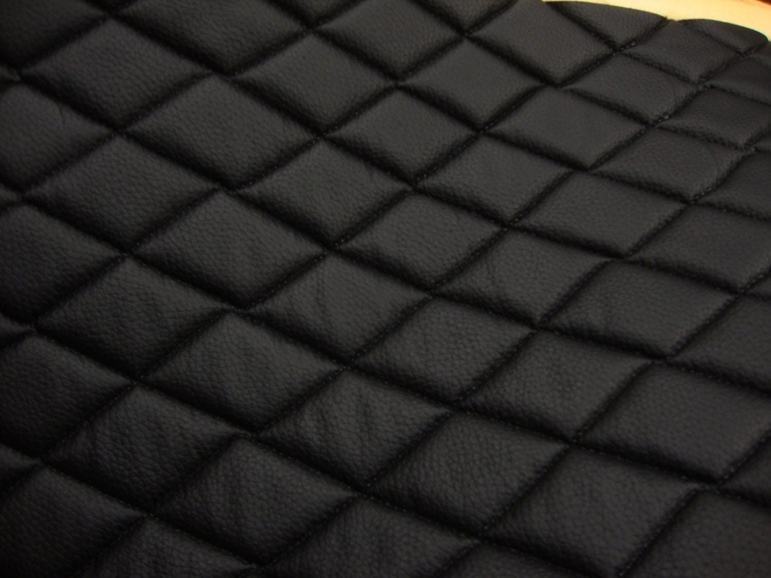 Vinyl Leather Faux Vinyl Black Quilted Vinyl Auto
