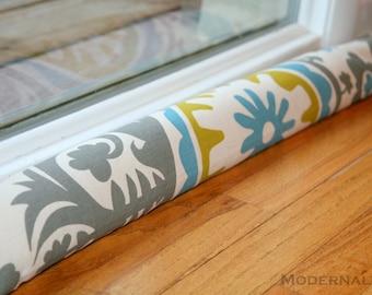 SALE Decorative Draft Stopper- Summerland Suzani Citrine Home Decor- Window Breeze Blocker- Door Snake- Window Air Stopper- Draft Guard