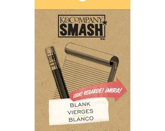 Smash Blank, List Pad, K&Co., 30 sheets, embellishment for planners, scrapbooks, mini albums, art journal, card making, paper crafting