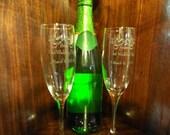 Wedding Toasting Glasses Custom Etched