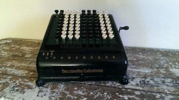 Burroughs Adding Machine Calculator Keyboard Vintage Calculator Key Driven Calculator Comptometer