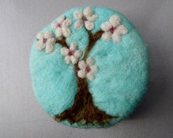Cherry Blossom Felted Soap