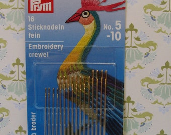 Needles for Embroidery Crewel Set of 16