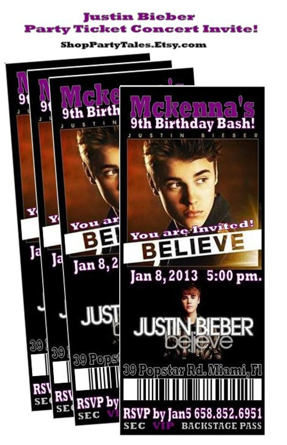 justin bieber believe 2013 concert ticket by shoppartytales