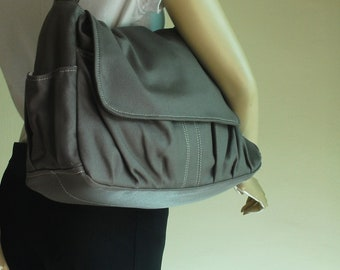 Messenger Bag, Sale SALE SALE - Pico, Dark Grey, Shoulder Bag,  Diaper Bag, Women, Canvas School bag,  40% OFF