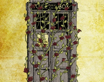 Doctor Who print - Rose - Dr Who Tardis inspired 8x10 art print- FREE WORLDWIDE SHIPPING