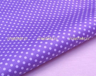 "W223C - Vinyl Waterproof Fabric - polka dot - purple   - 27""x19""(70cmX50cm)"