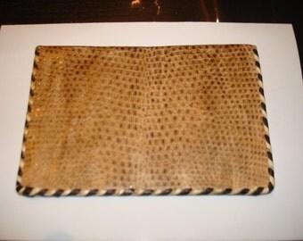 Vintage snakeskin leather wallet