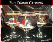 Mini Fish Bowl Ocean Critters Gel Candle