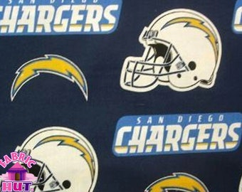 140226103-  NFL San Diego Chargers Navy Cotton Fabric
