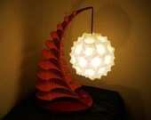 Red and Gold Sweetheart Origami Table Lamp