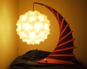 Red and Gold Dream Weaver Origami Table Lantern