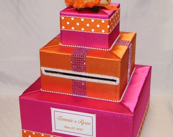 Elegant Custom Made Wedding Card Box-any colors