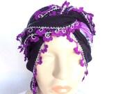 Turkish oya scarf,hand crocheted lace scarf,Lace scarf,headband,turban ,bandana.