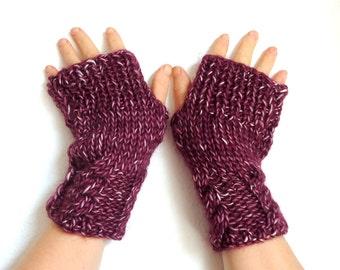 Fingerless Gloves. Claret  gloves.