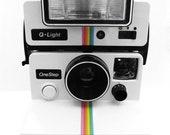 2 Polaroid prints - 2 8x10s, black and white, positive and negative, rainbow polaroid