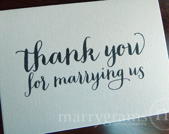 Wedding Card to Your Officiant - Thank You for Marrying Us - Reverend, Priest, Deacon, Rabbi Note Card CS02