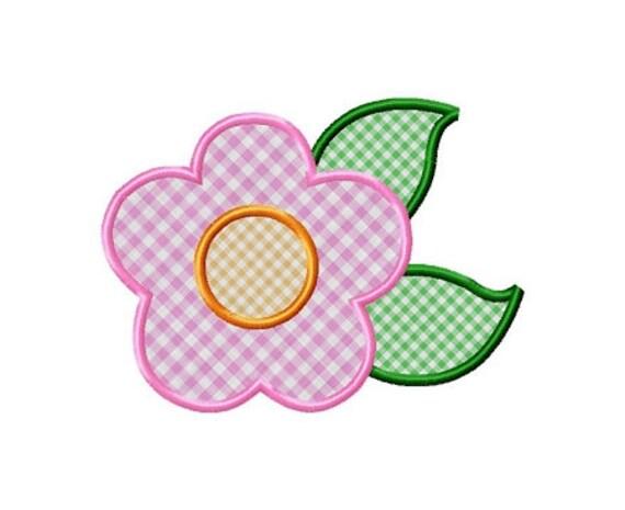 Applique flower machine embroidery design 3 sizes for Appliques design