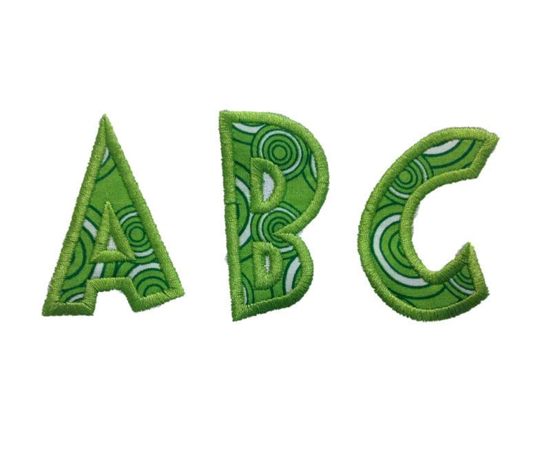 Grinch applique machine embroidery font by rivermillembroidery